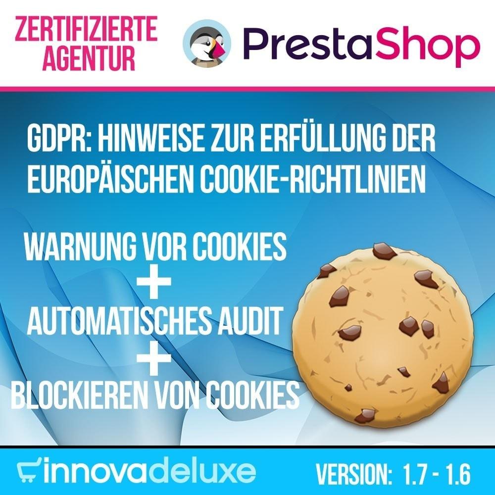 module - Rechtssicherheit - GDPR-Cookies-Gesetz (Hinweis - Audit - Sperrung) - 1