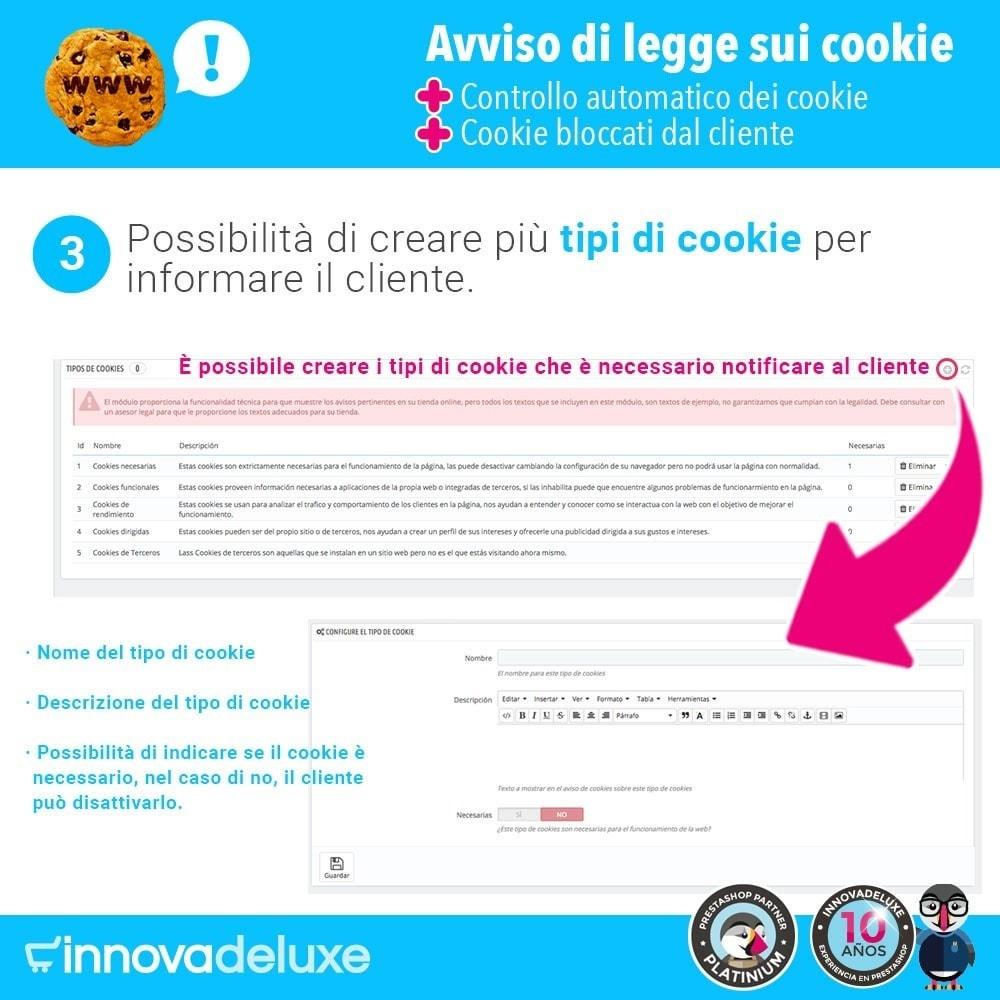 module - Legale (Legge Europea) - Legge sui cookie RGPD (Avviso - Controllo - Blocco) - 5