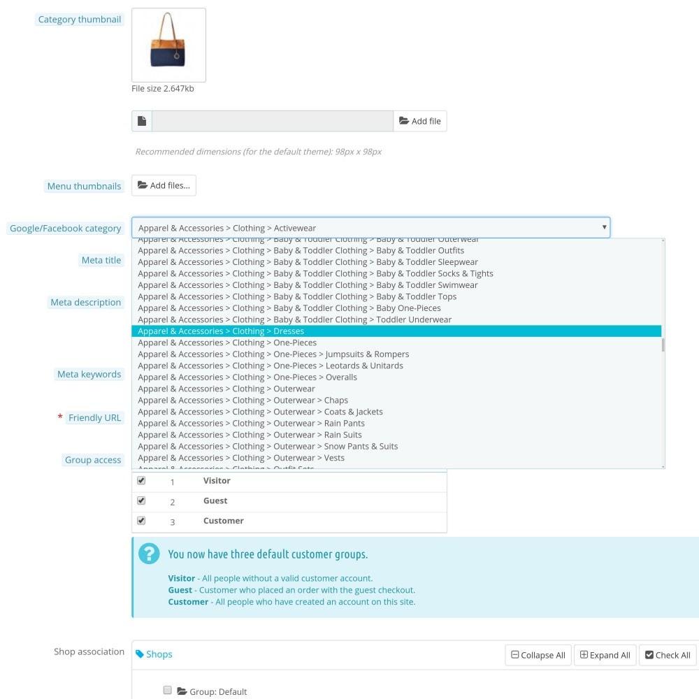 module - Produkte in Facebook & sozialen Netzwerken - Social Network Product Catalog XML Feed (Feed Manager) - 6