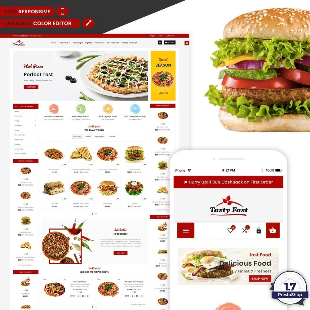 theme - Alimentation & Restauration - Tasty Fast – The Food and Drink Shop - 1
