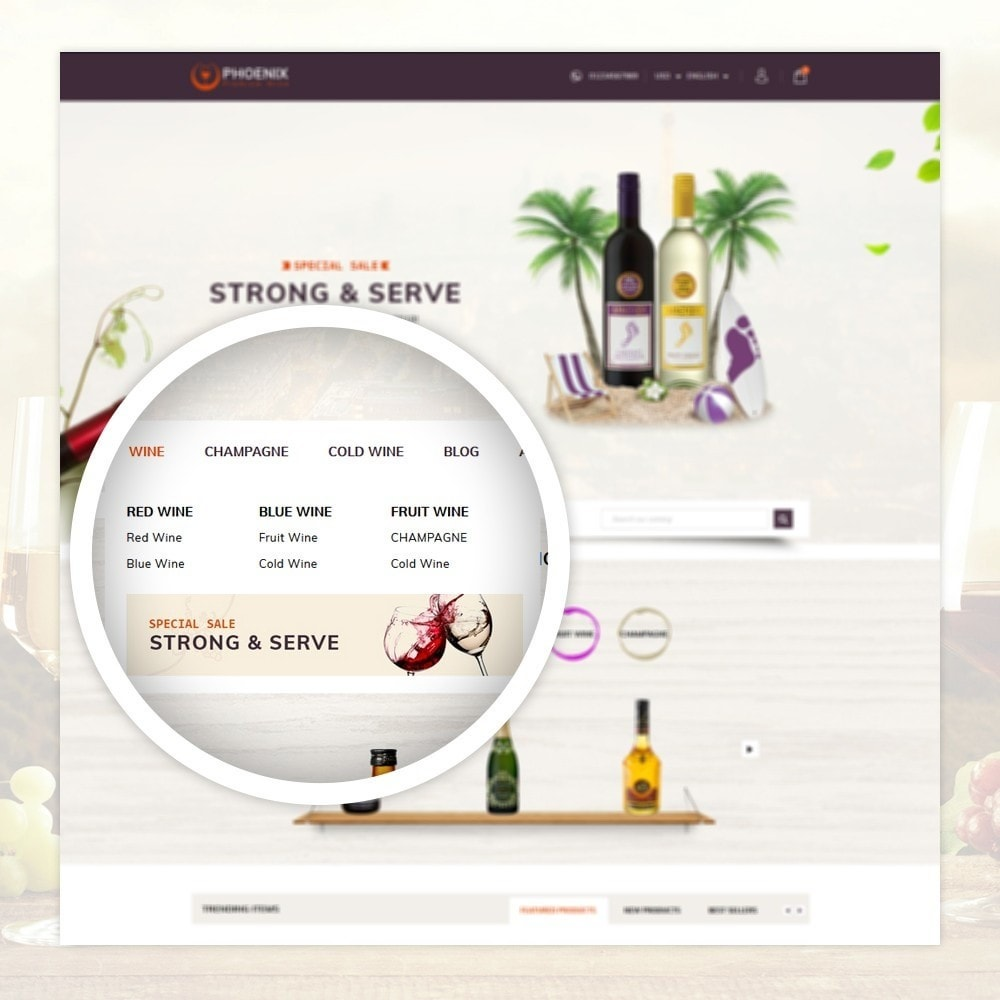 theme - Drink & Tobacco - Phoenix - Wine Shop - 7