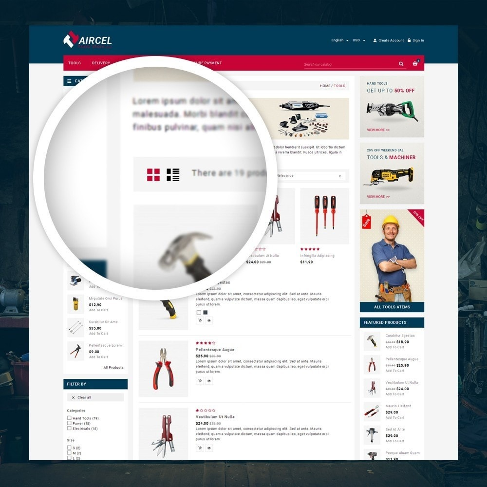 theme - Sports, Activities & Travel - Aircel - Tools Shop - 3