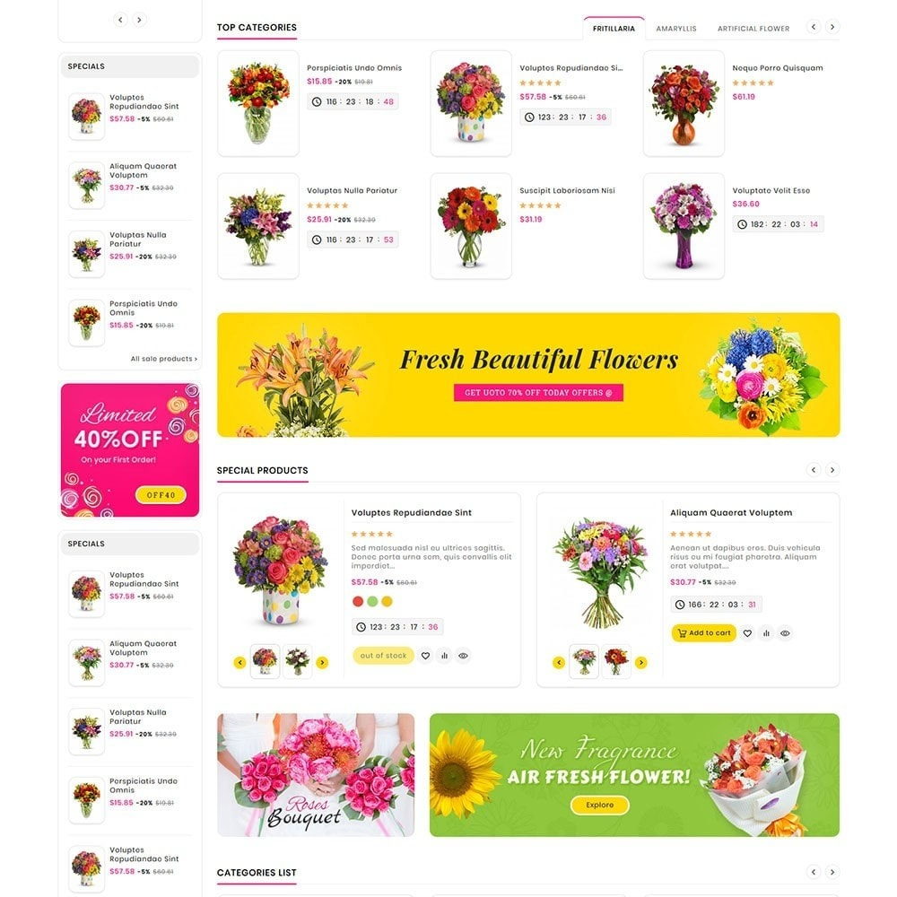 theme - Gifts, Flowers & Celebrations - Mega Deals Flower Art - 3