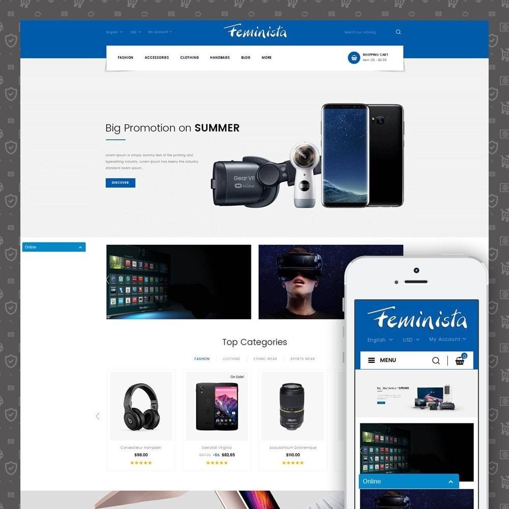 theme - Elektronika & High Tech - Feminista - Digital Store - 1