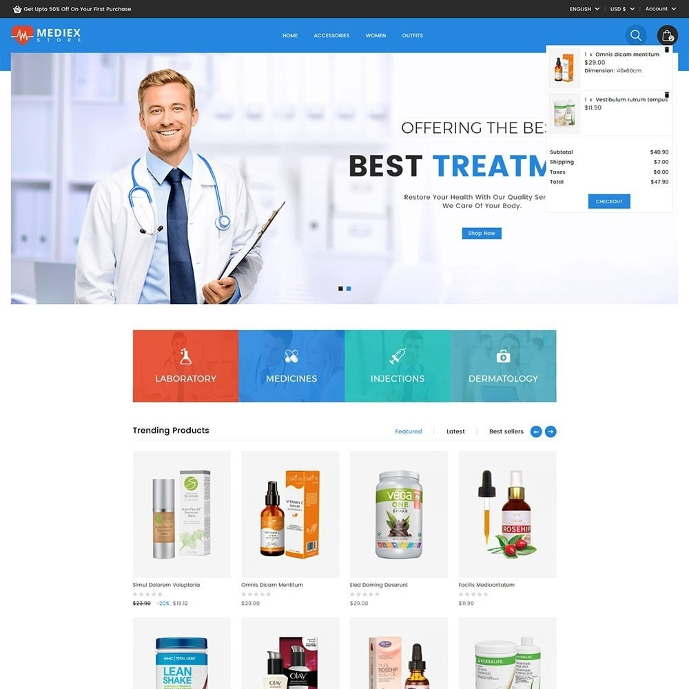 theme - Salute & Bellezza - Mediex Health and Medical Store - 2