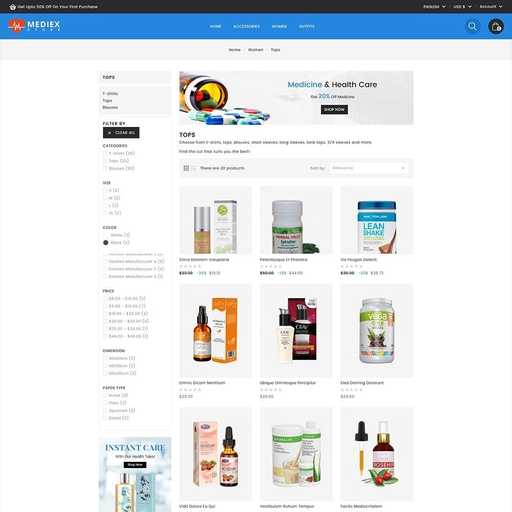 theme - Salute & Bellezza - Mediex Health and Medical Store - 4