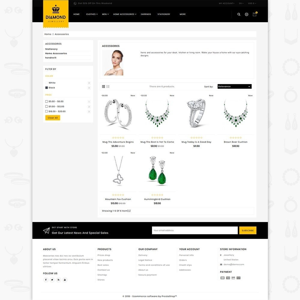 theme - Jewelry & Accessories - Diamond - Royal Jewellery Shop - 3