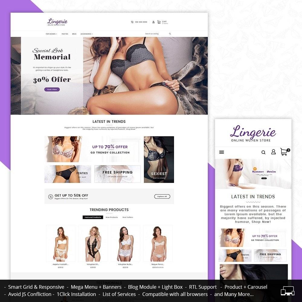 theme - Lingerie & Adult - Lingerie Women Shop - 1