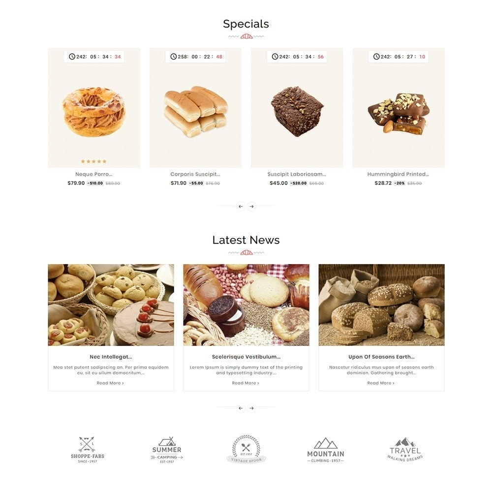 theme - Food & Restaurant - Breadly - Bakery & Cakes - 4