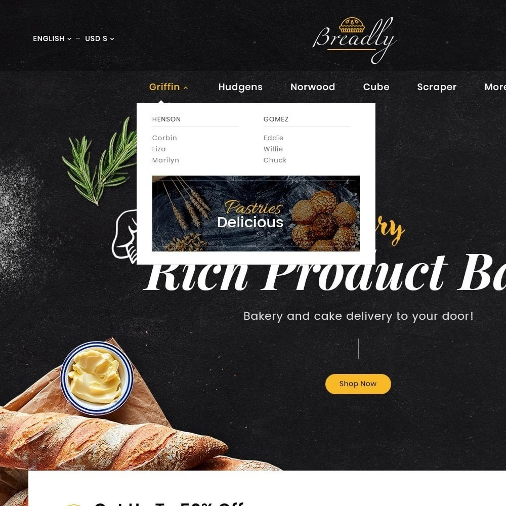 theme - Food & Restaurant - Breadly - Bakery & Cakes - 11