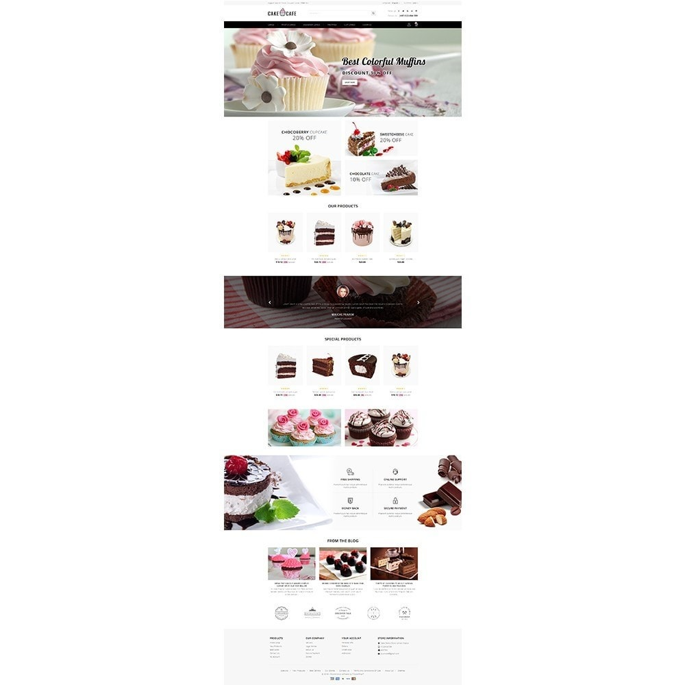 theme - Food & Restaurant - Cake cafe Store - 2