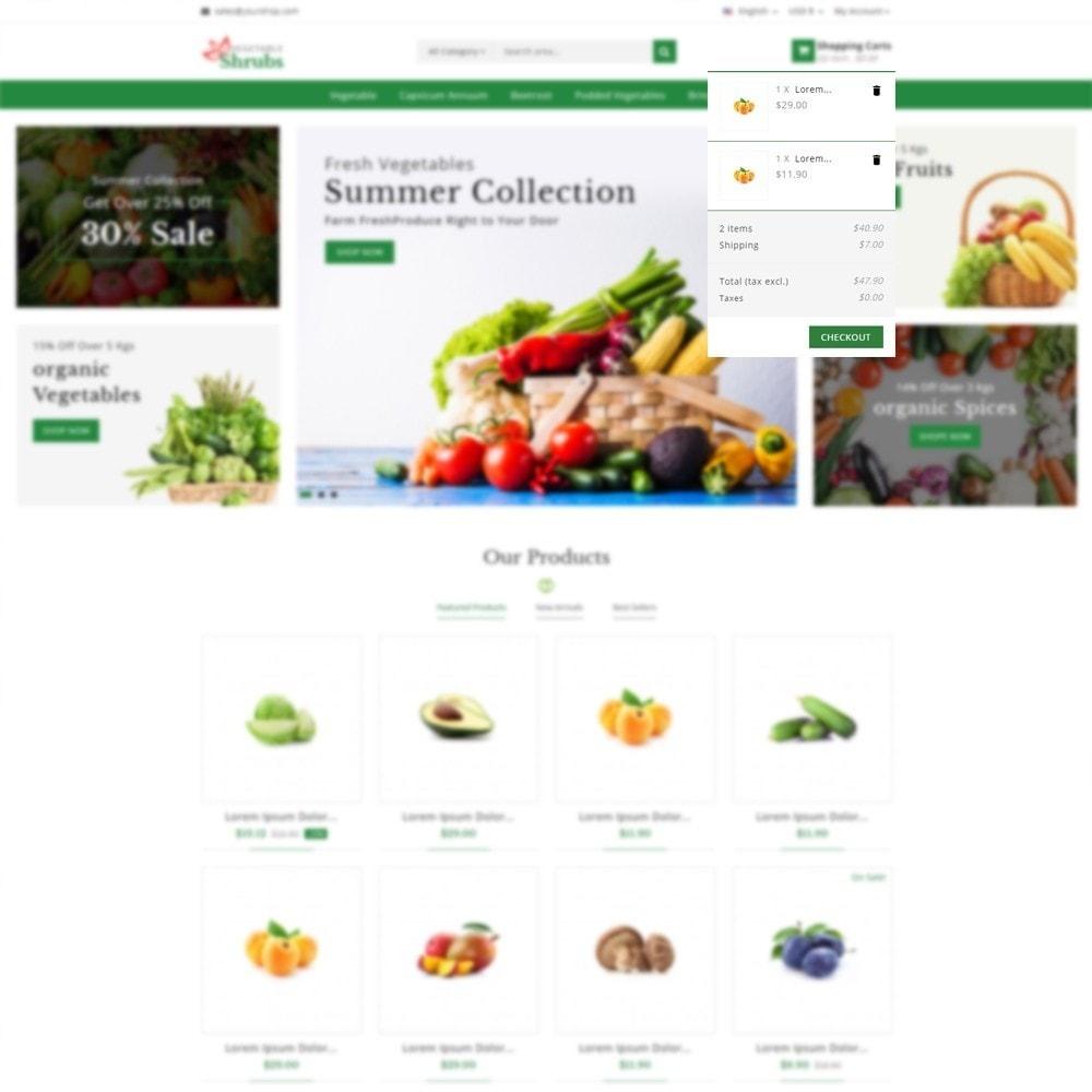 theme - Food & Restaurant - Vegetable Shrub - Organic Store - 6