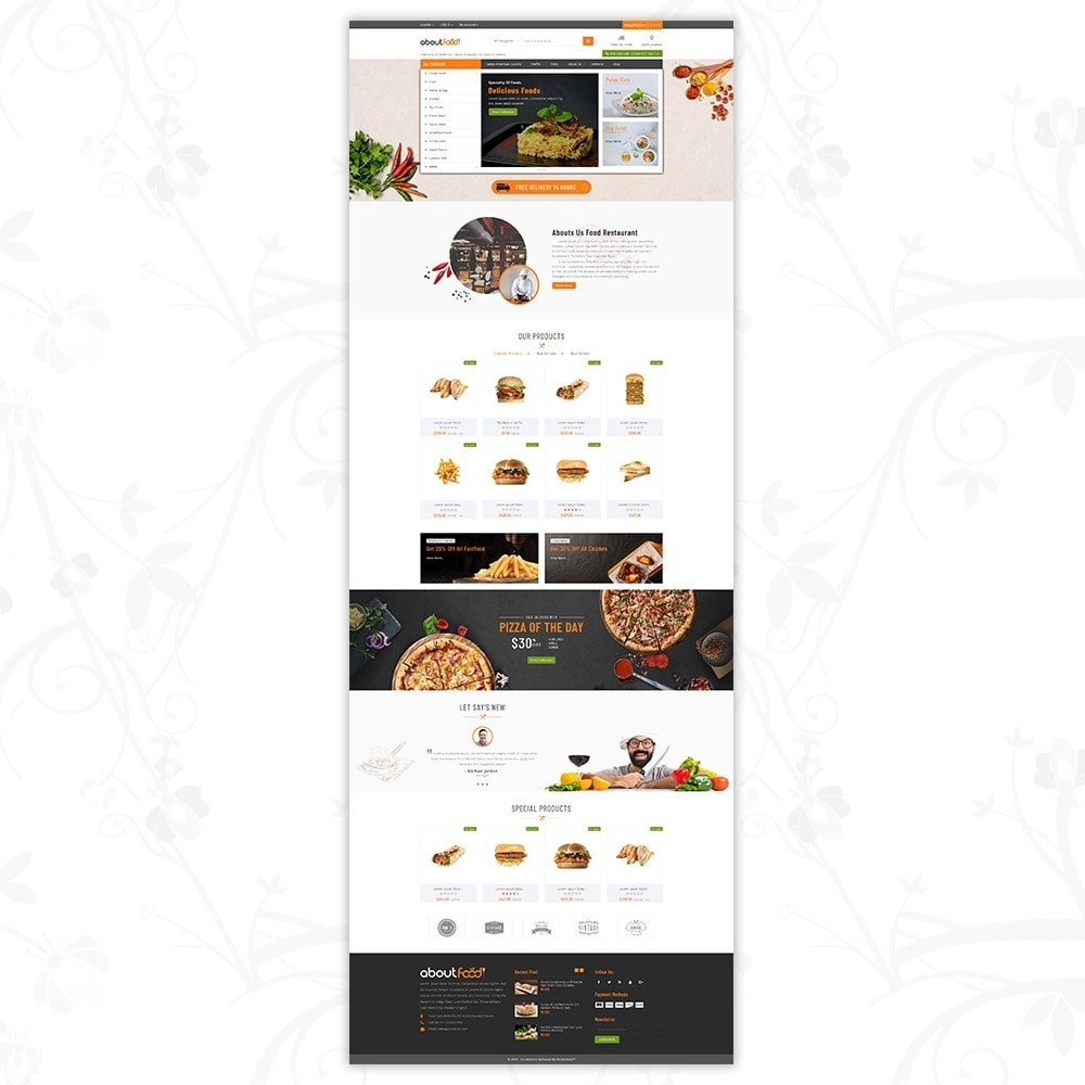 theme - Food & Restaurant - AboutFood - Food Store - 2