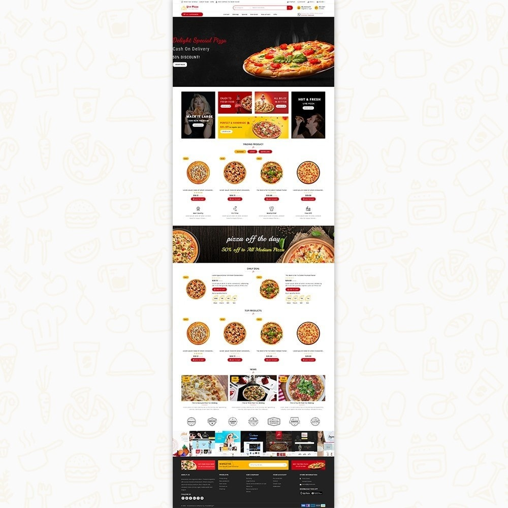 theme - Alimentation & Restauration - Live Pizza - Fast And Fresh Restaurant - 6