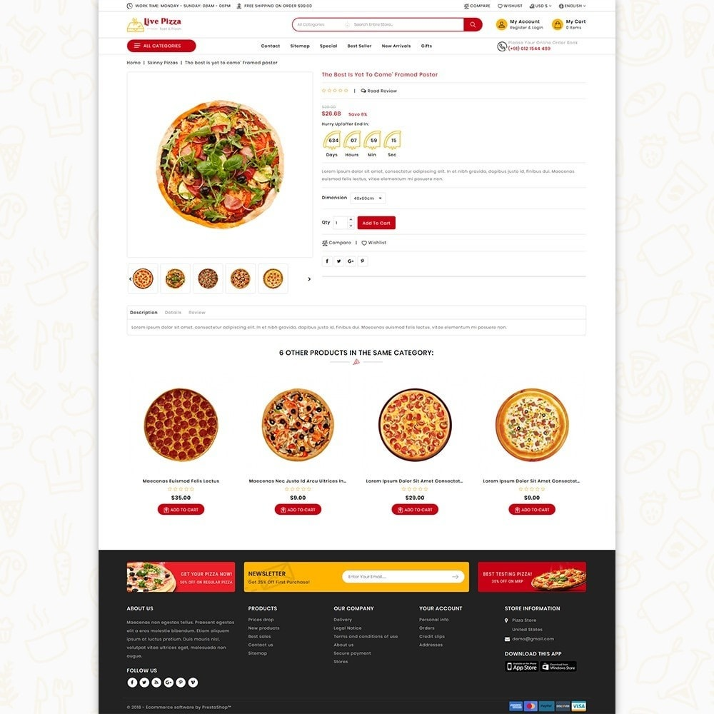 theme - Eten & Restaurant - Live Pizza - Fast And Fresh - 4