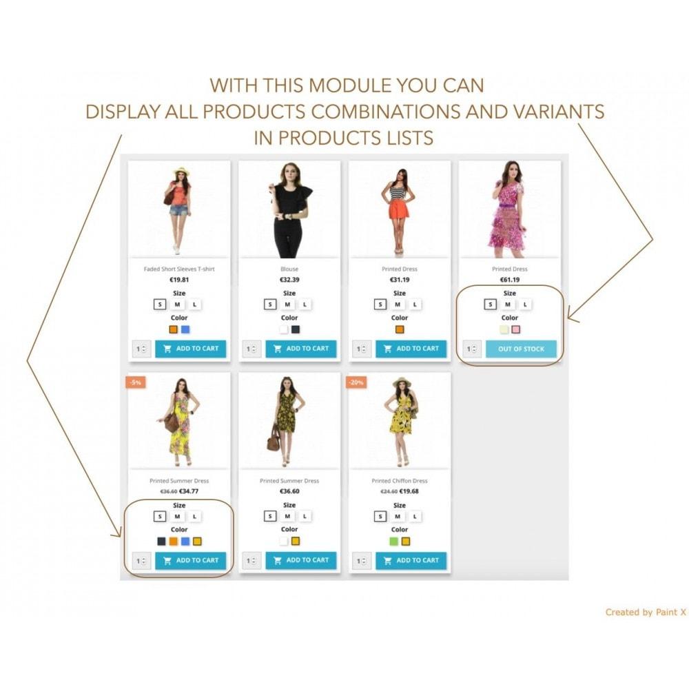 module - Déclinaisons & Personnalisation de produits - Affichage des attributs de produit sur la liste - 1
