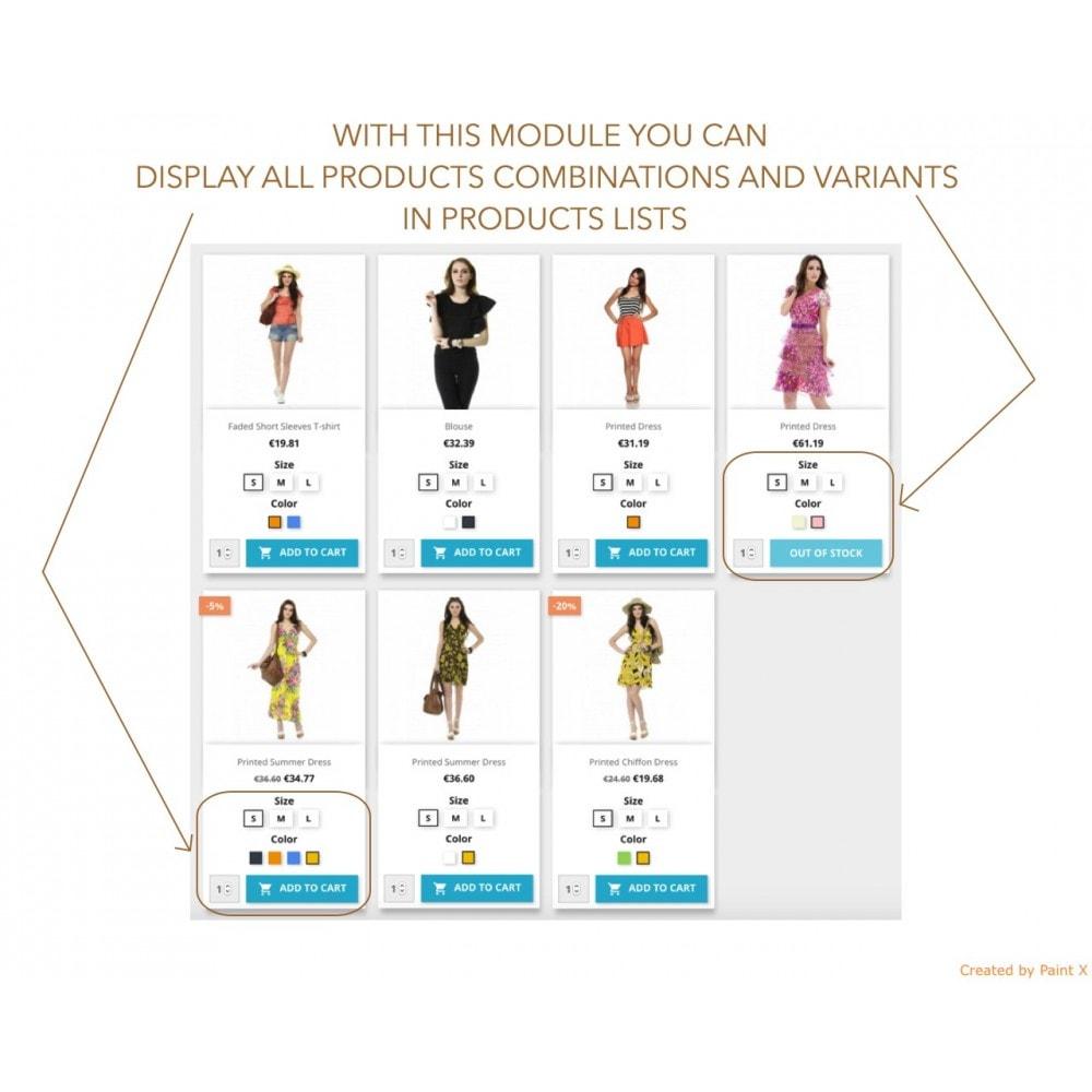 module - Вариаций и персонализации товаров - Просмотр атрибутов продукта в списке продуктов - 1