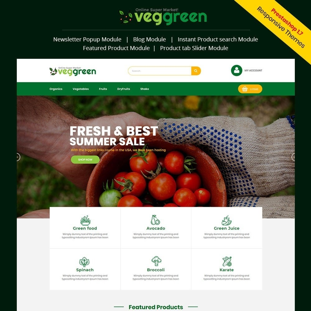 theme - Food & Restaurant - Veggreen Food Store - 1