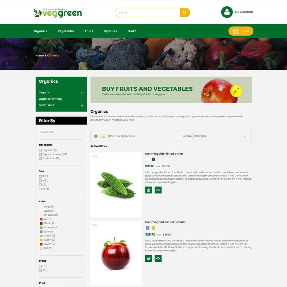 theme - Food & Restaurant - Veggreen Food Store - 4