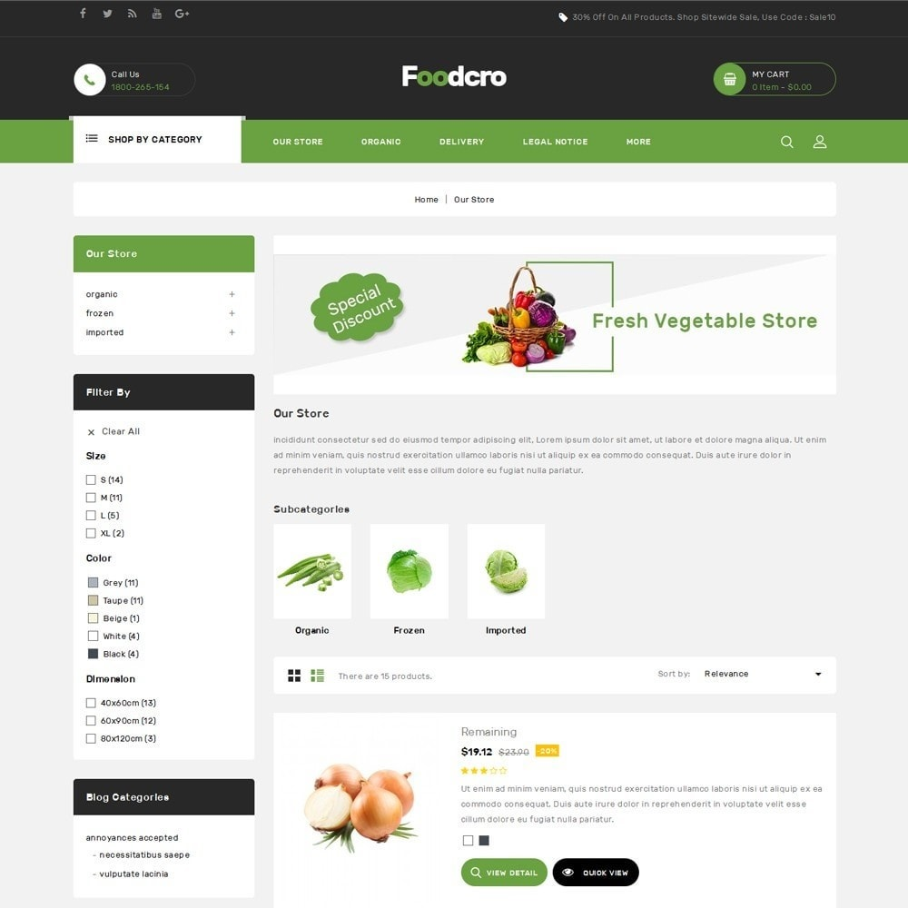theme - Food & Restaurant - Foodcro - The Organic Food Store - 5