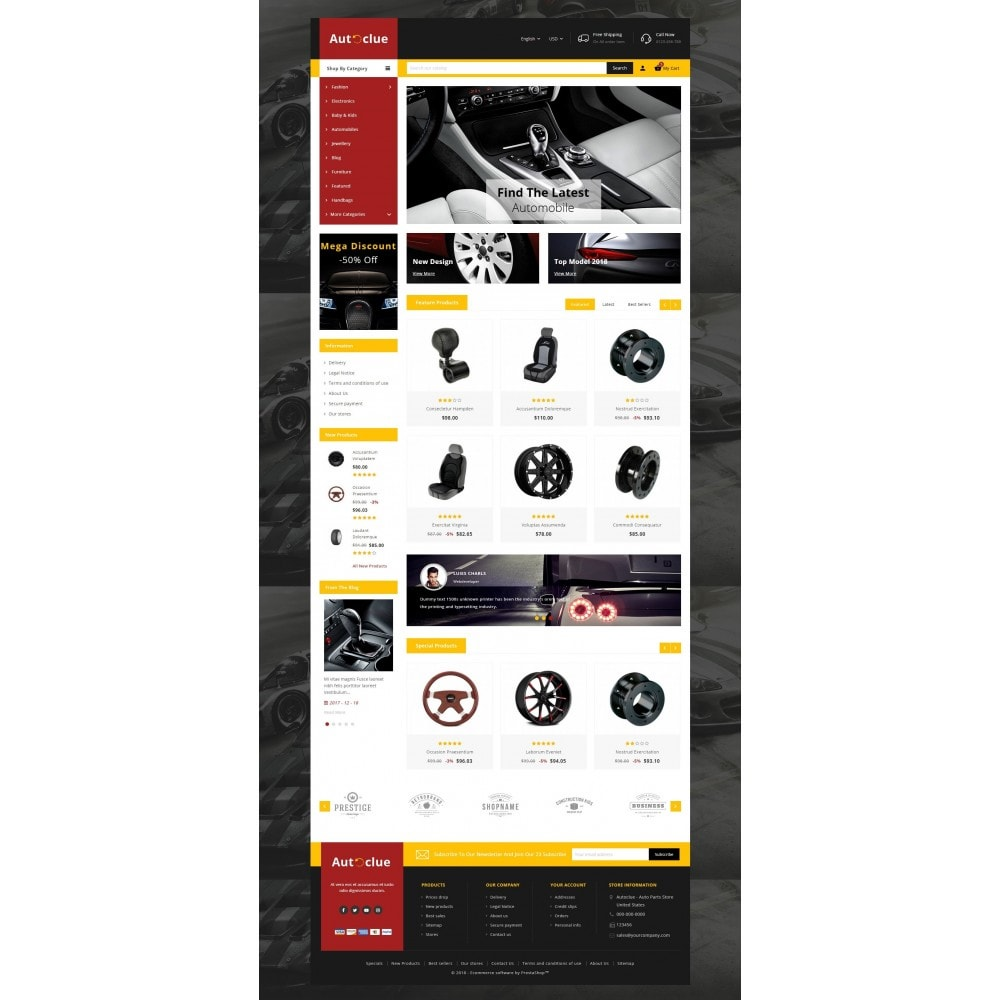 theme - Coches y Motos - Autoclue Store - 2