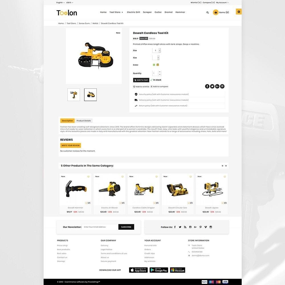 theme - Automotive & Cars - Toolen Mega Tools Super Store - 5