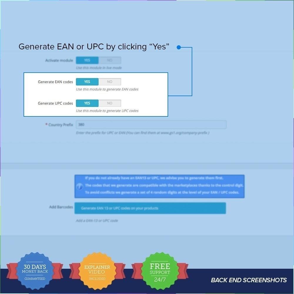 module - Gestion des Stocks & des Fournisseurs - Générateur de codes EAN-UPC - 2