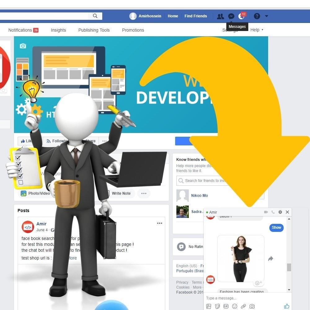 module - Produkte in Facebook & sozialen Netzwerken - Shop for Fan Page and messenger - 2