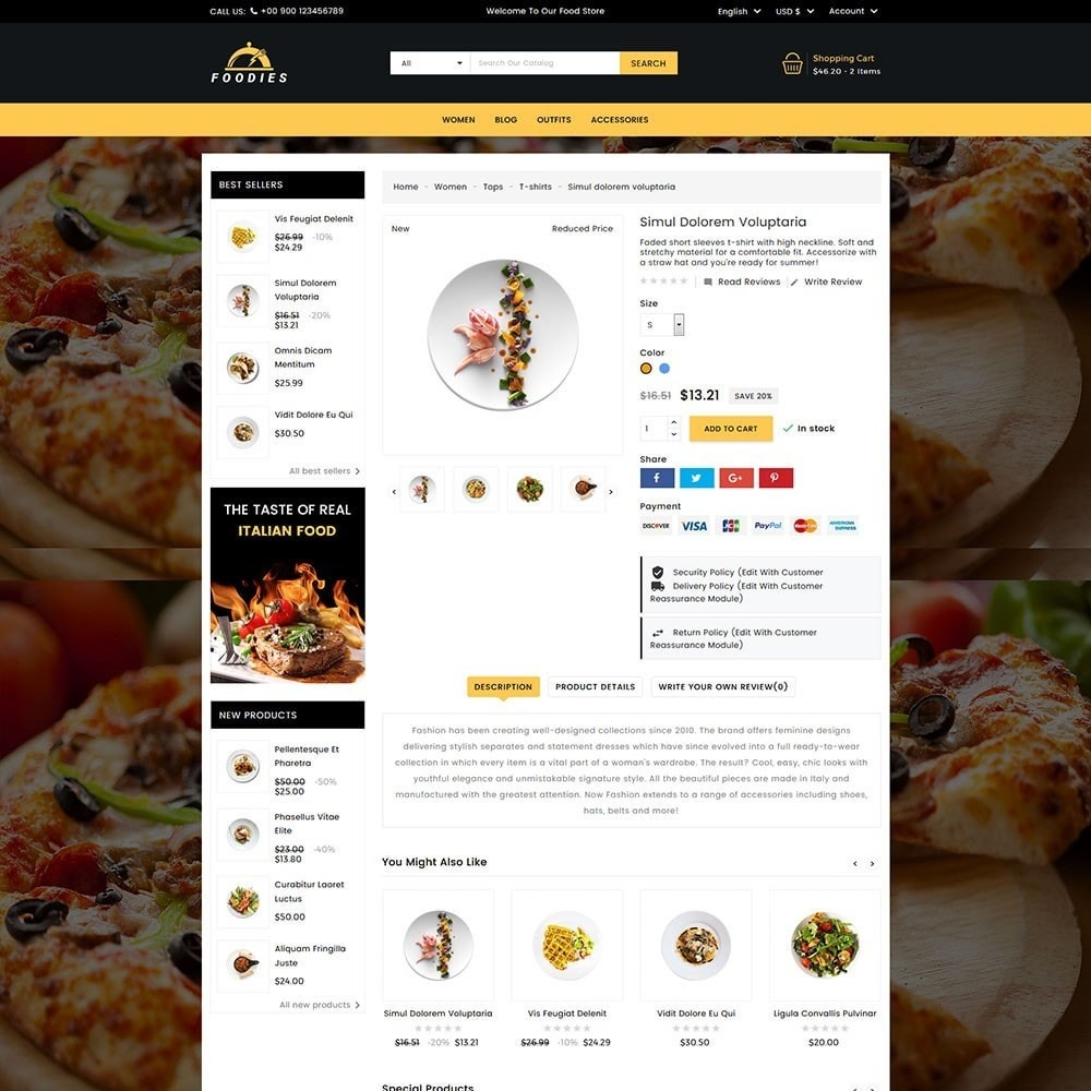 theme - Продовольствие и рестораны - Foodies Food Store - 4