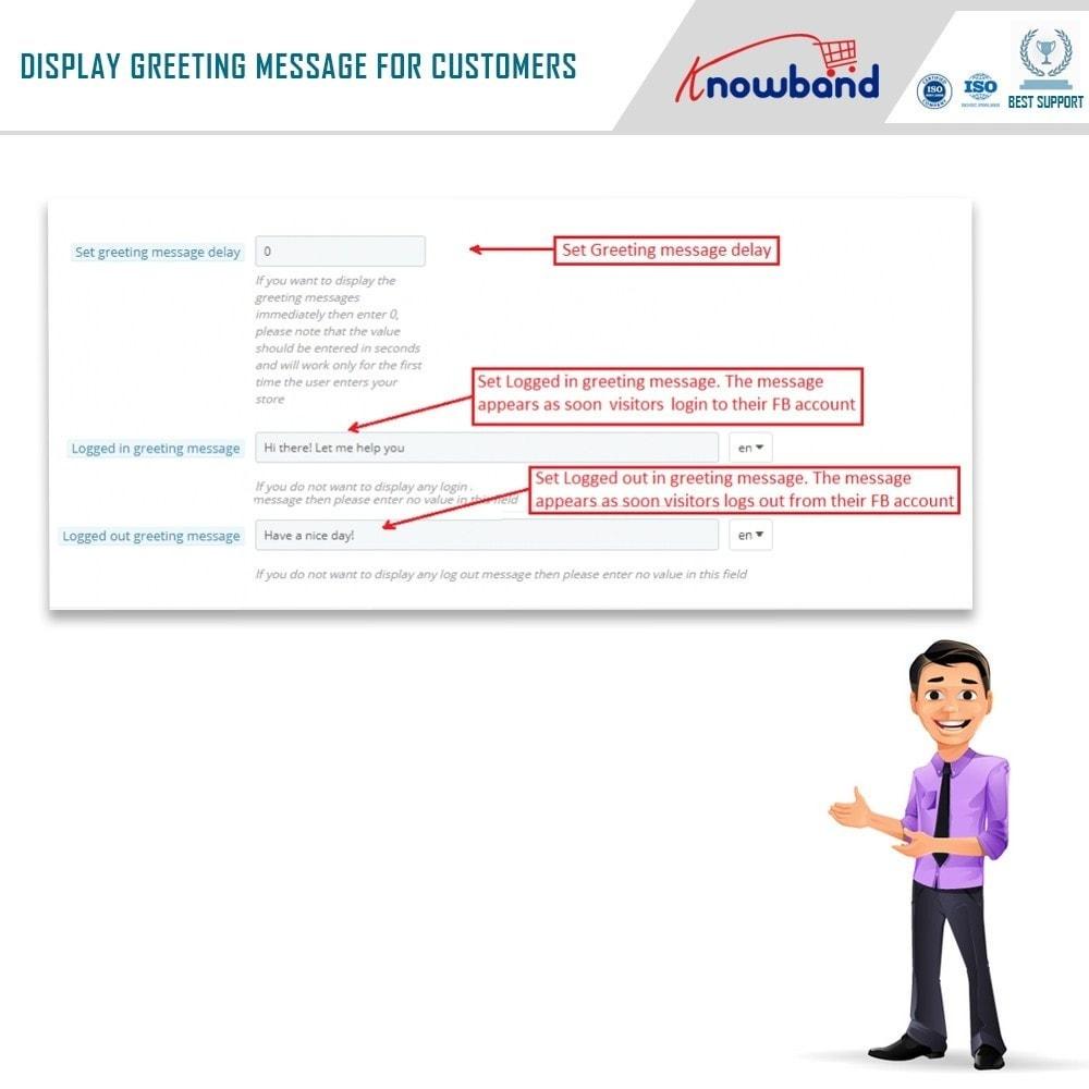 module - Поддержка и онлайн-чат - Knowband- Social Messenger, Live Chat Support - 8