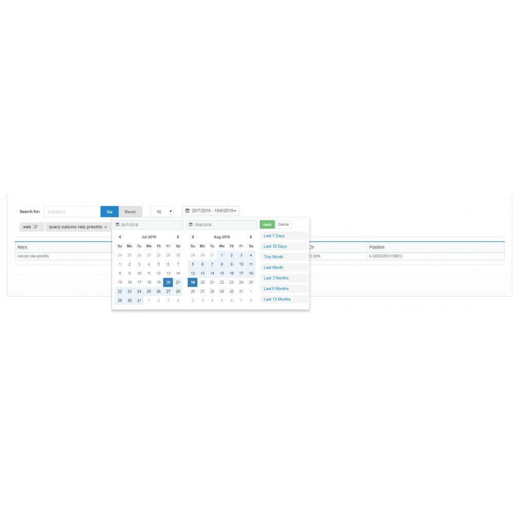 module - Analytics & Statistiche - Search Console Analytics - 1