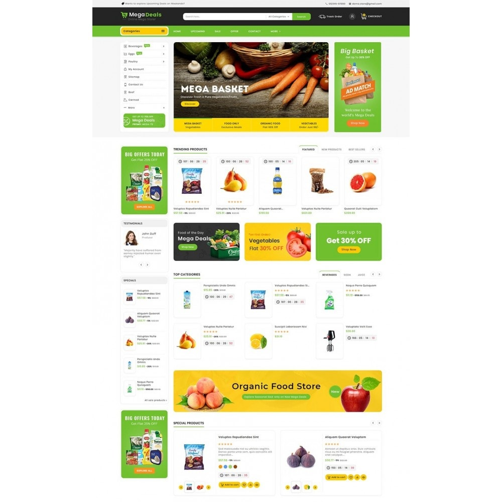 theme - Food & Restaurant - Mega Deals Organic Grocery - 2