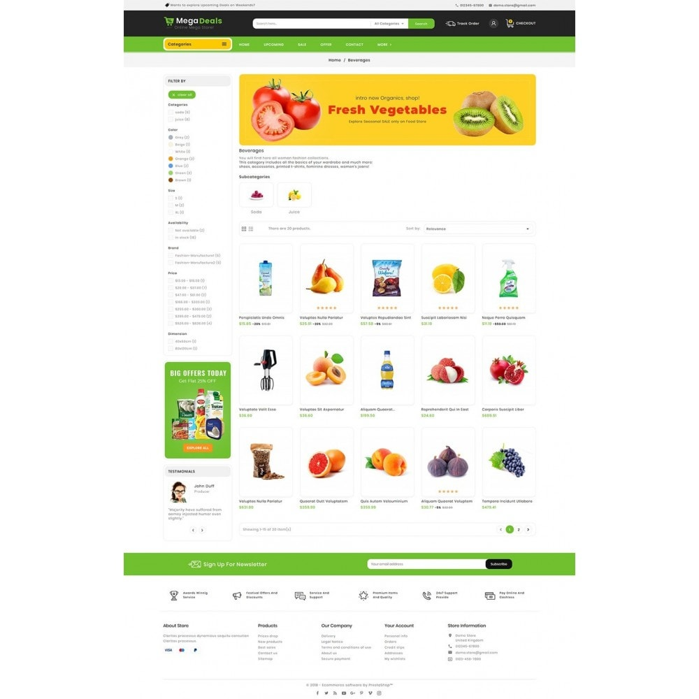 theme - Food & Restaurant - Mega Deals Organic Grocery - 4