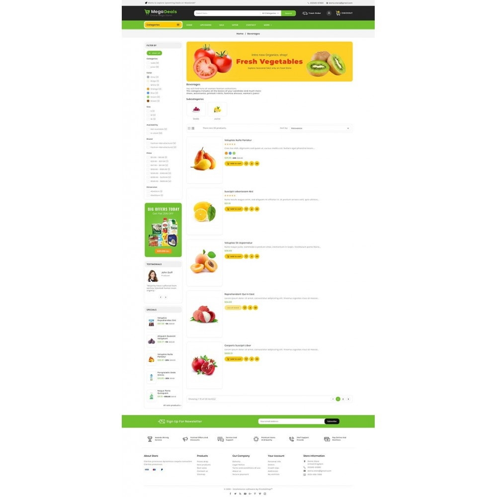 theme - Food & Restaurant - Mega Deals Organic Grocery - 5