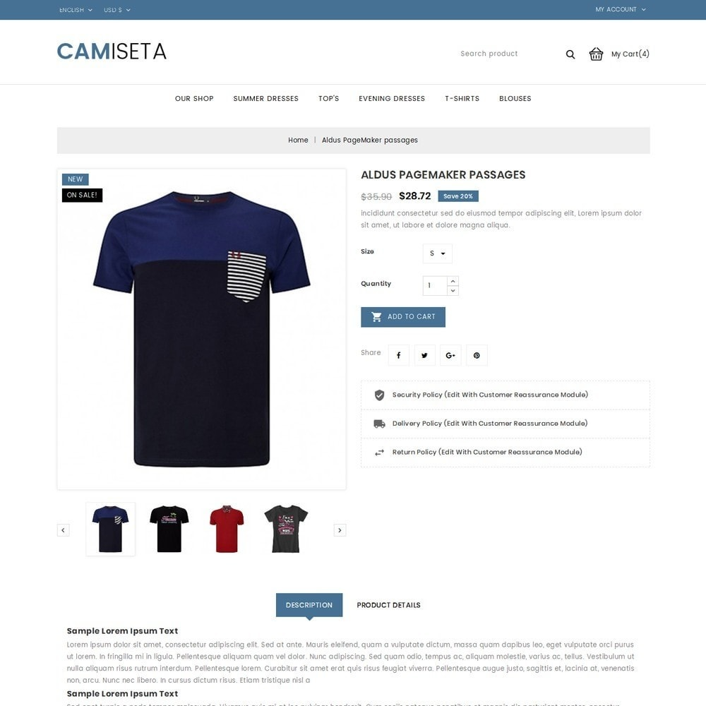 theme - Fashion & Shoes - Camiseta - The Fashion Store - 6