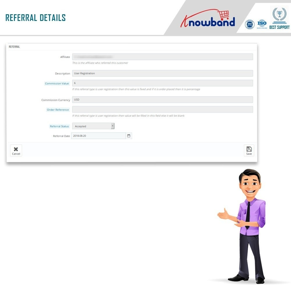 module - Fidelização & Apadrinhamento - Knowband - Affiliate and Referral Program - 13