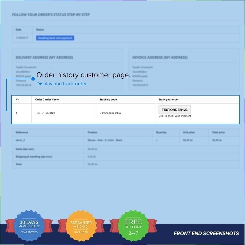 module - Suivi de livraison - LIVE Shipping/Order Tracking Multiple Carriers - 4