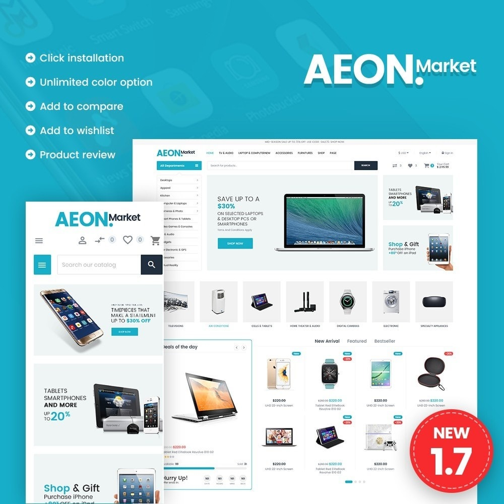 theme - Electronique & High Tech - AEON Electronic Store - 1