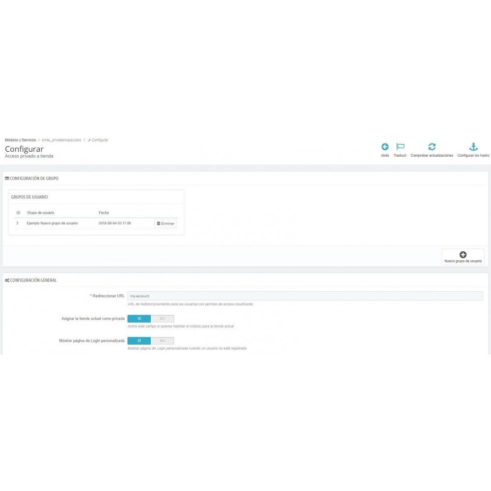 module - Seguridad y Accesos - Acceso privado a tienda - 3