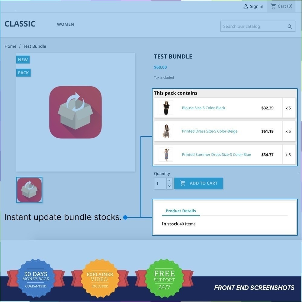 module - Ventas cruzadas y Packs de productos - Bundle Stocks / Product Packs Automatic Update - 2