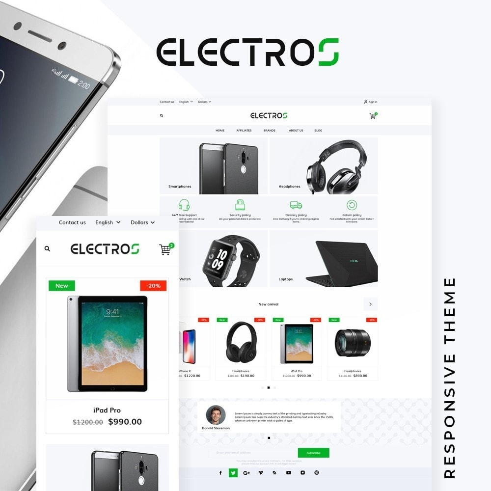 theme - Электроника и компьютеры - Electros - High-tech Shop - 1