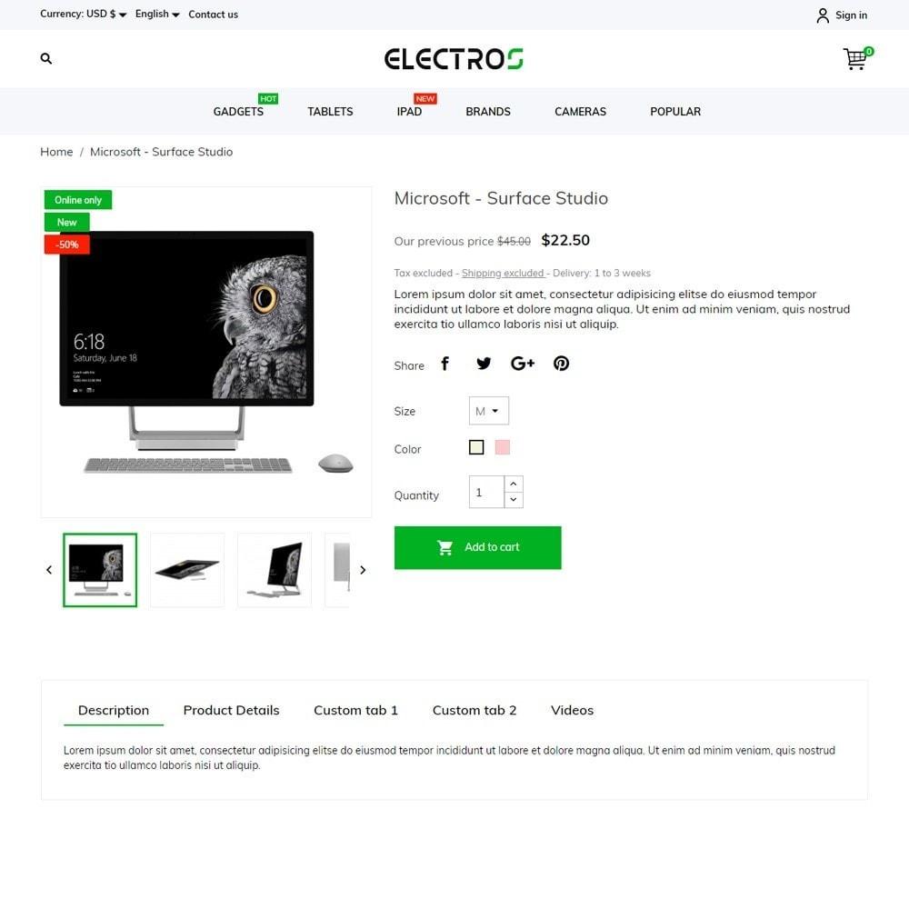 theme - Электроника и компьютеры - Electros - High-tech Shop - 5