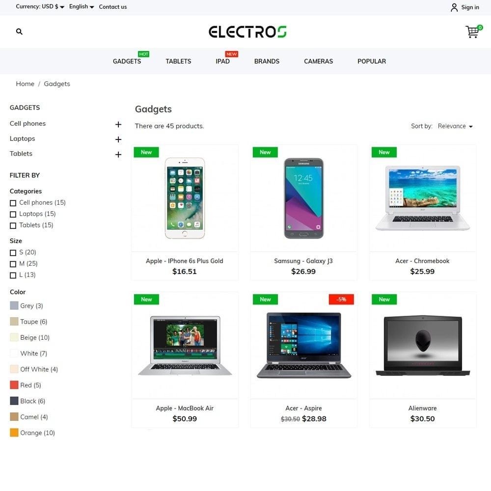 theme - Электроника и компьютеры - Electros - High-tech Shop - 6