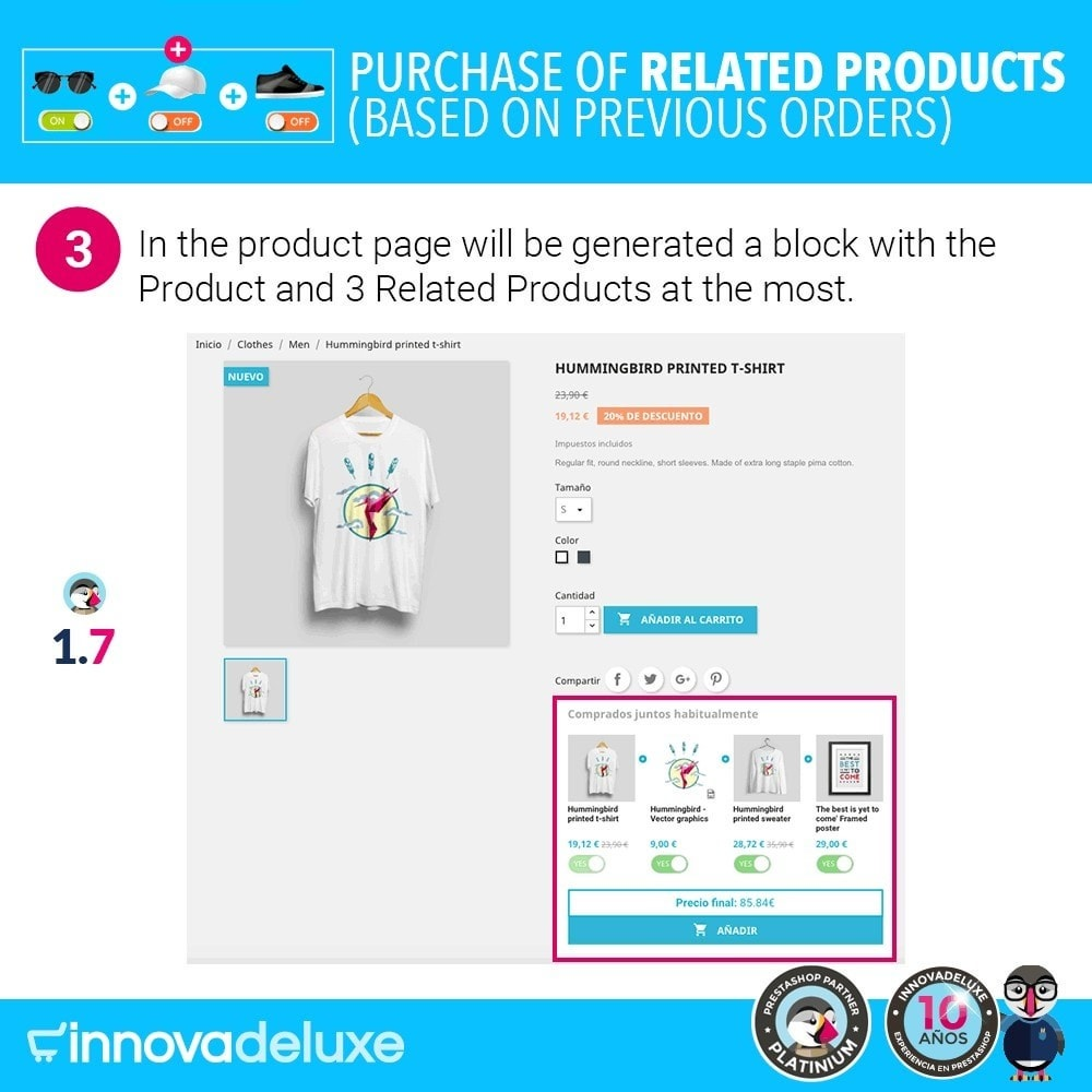 module - Cross-selling & Product Bundles - Purchase of related products based on previous orders - 6