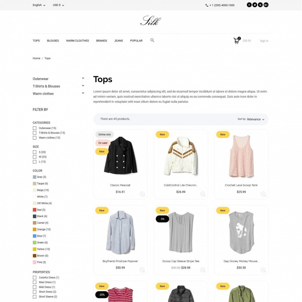theme - Fashion & Shoes - Silk Fashion Store - 5