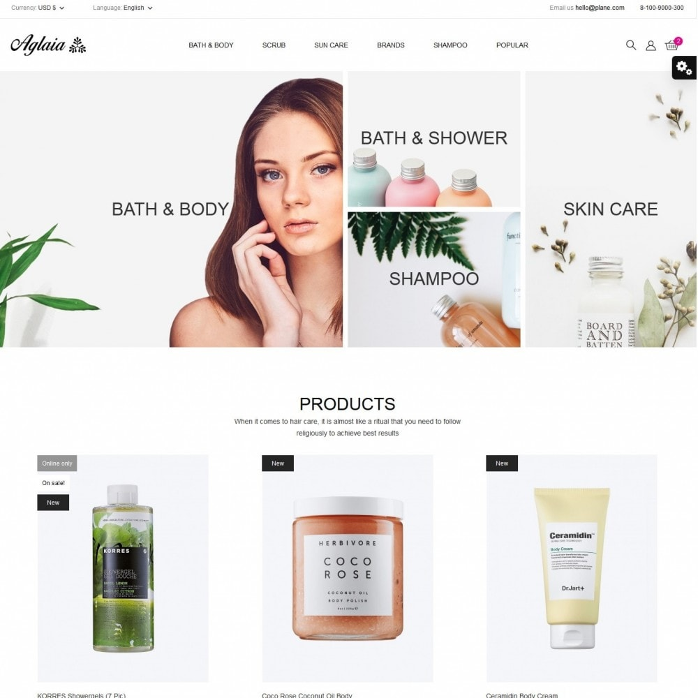 theme - Health & Beauty - Aglaia Cosmetics - 2