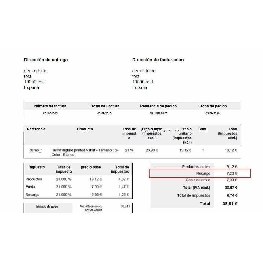 module - Pago a la Entrega (contrarrembolso) - Pago contrareembolso con recargo y limitaciones - 5
