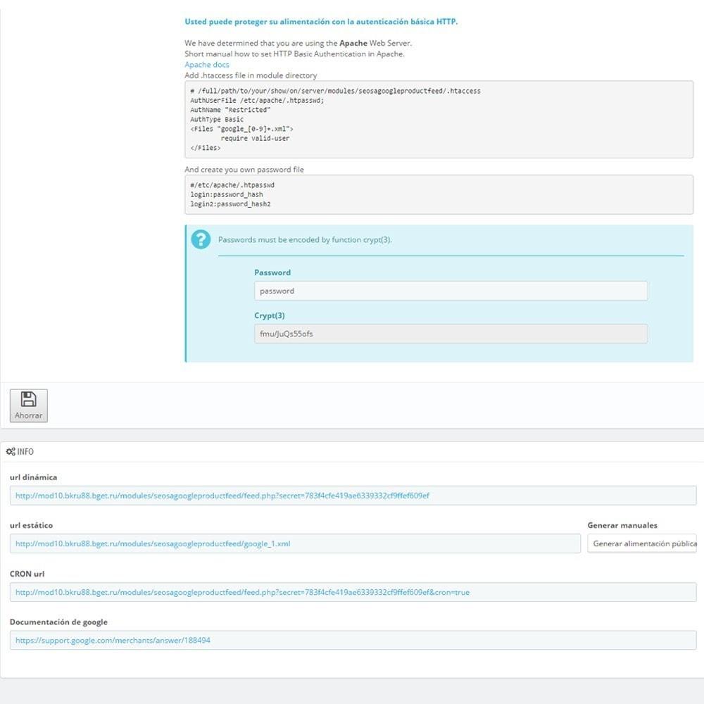 module - Comparadores de Precios - Exportar productos a Google Merchants (Google Shopping) - 7