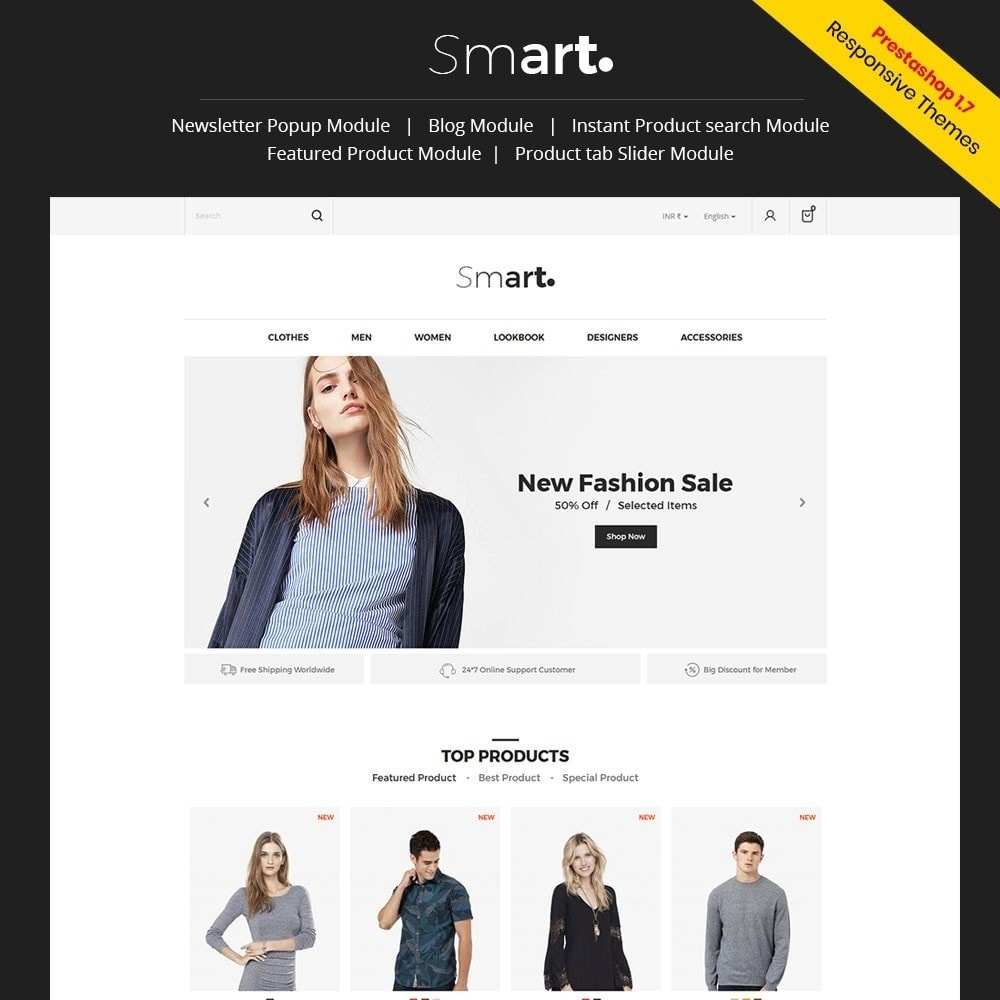 theme - Fashion & Shoes - Smart Designer - Fashion Store - 1