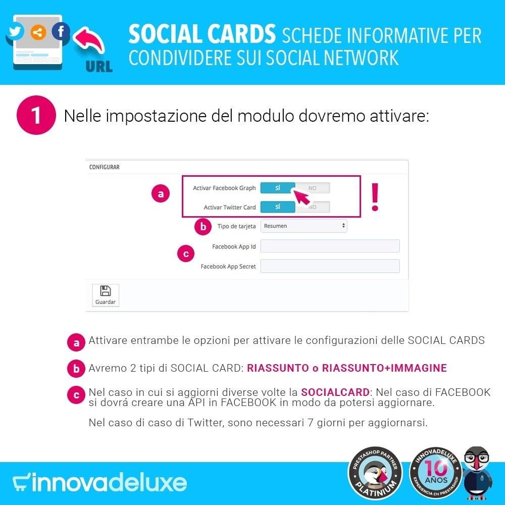 module - Pulsanti di condivisione & Commenti - SocialCards, schede per condividere sui social network - 2